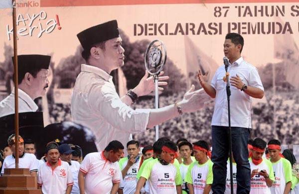 Deklarasi Pemuda untuk mendukung Cabup Kabupaten Gowa dari PAN