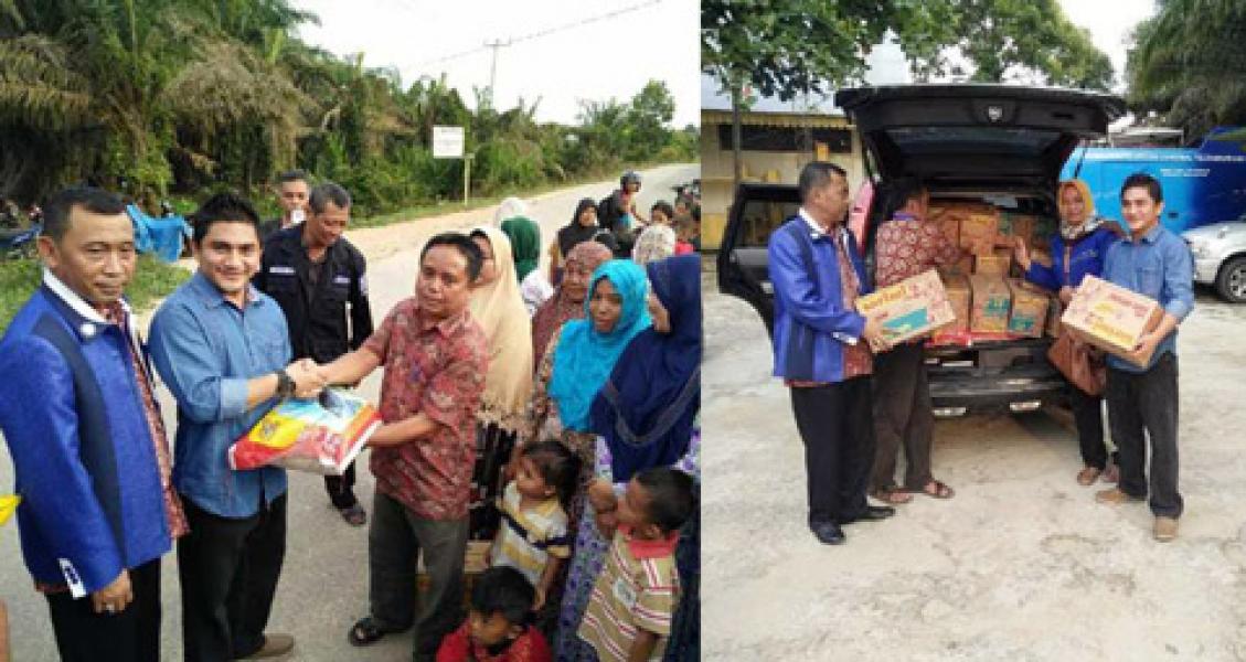 DPW PAN Riau dan Fraksi PAN Pelalawan Serahkan Bantuan Korban Banjir Langgam