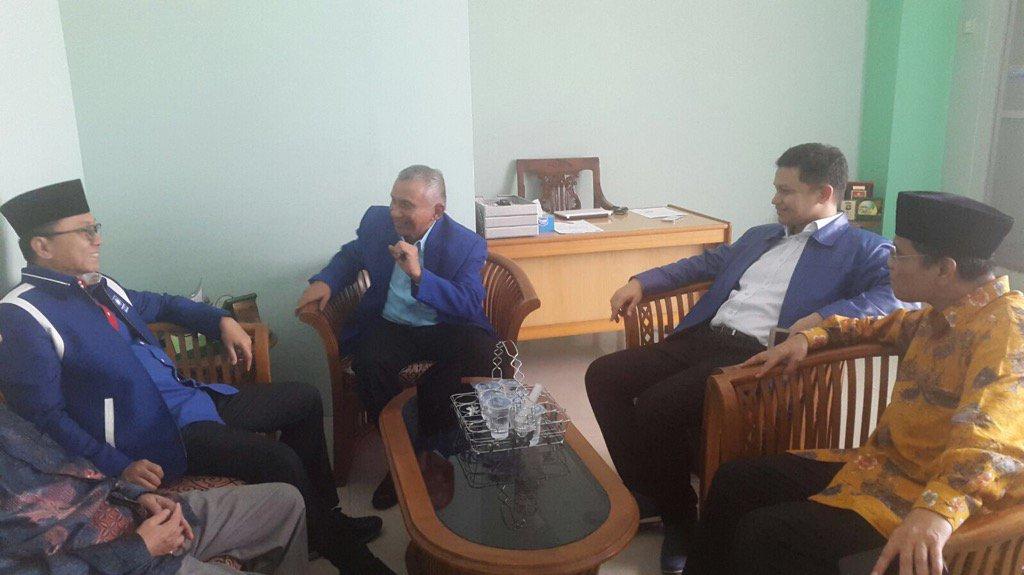 Zulkifli Hasan dan Amien Rais berkunjung ke Gedung Dakwah Muhammadiyah