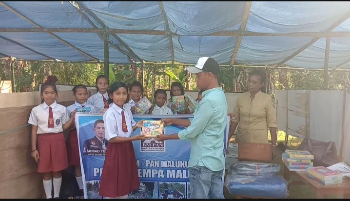 Peduli Gempa Maluku, BM PAN Salurkan Bantuan ke Sekolah dan Pengungsian
