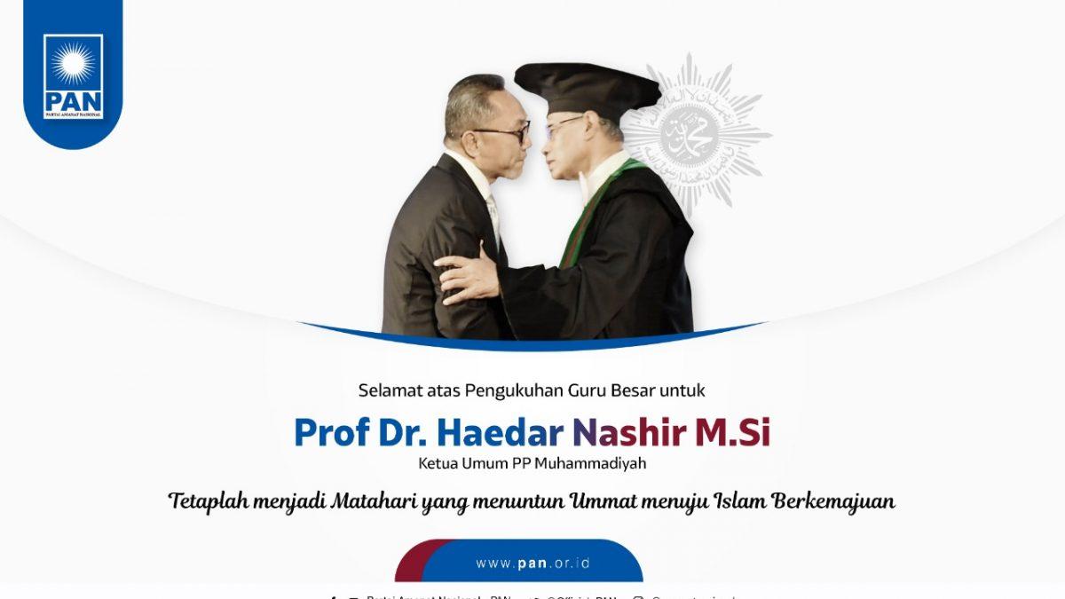 Ketua Umum PAN Hadiri Pengukuhan Guru Besar Prof. Haedar Nashir