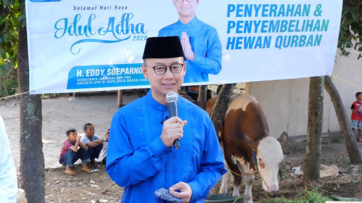 Eddy Soeparno Kurban Sapi Limosin untuk Kota Bogor