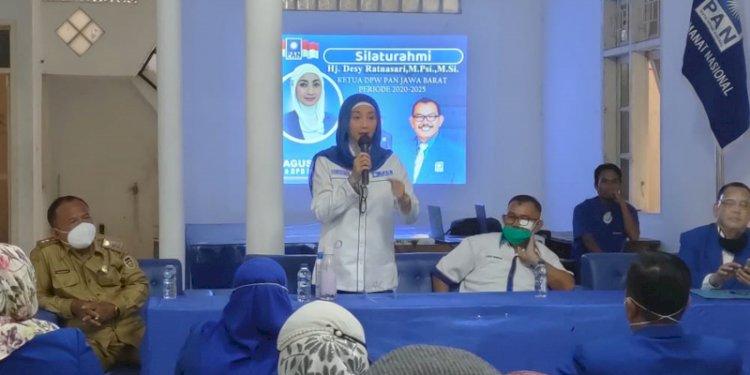 Ketua DPW PAN Jabar Dessy Ratnasarasi Petakan Titik Aman